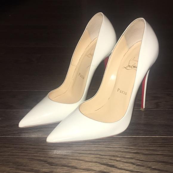 White Louboutin Heels | Poshmark